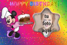 Pastel De Cumpleaños De Minnie Mouse Marco Foto 220x150 - Pastel De Cumpleaños De Minnie Mouse Marco Foto