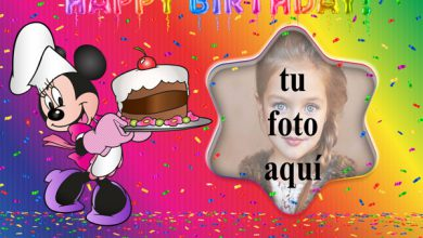 Pastel De Cumpleaños De Minnie Mouse Marco Foto 390x220 - Pastel De Cumpleaños De Minnie Mouse Marco Foto