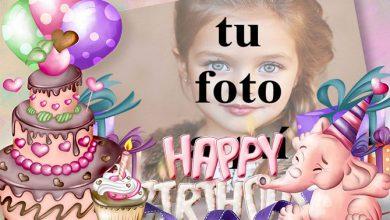 Photo of Tarjeta De Feliz Cumpleaños Con Buen Pastel Marcos para fotos