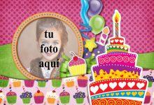 Tarjeta De Feliz Cumpleaños Con Pastel Marcos para fotos 220x150 - Tarjeta De Feliz Cumpleaños Con Pastel Marcos para fotos
