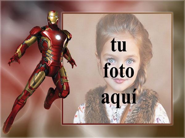 el marco de fotos del hombre de hierro de los vengadores - el marco de fotos del hombre de hierro de los vengadores