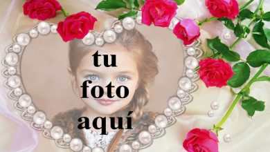 el marco de fotos romantico collar de perlas 390x220 - el marco de fotos romántico collar de perlas