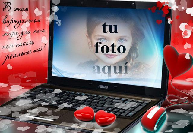 el marco de fotos romantico para laptop - el marco de fotos romántico para laptop