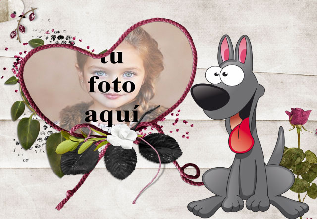 el marco romantico de la foto del perrito - el marco romántico de la foto del perrito