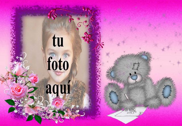 el romantico marco de fotos de juguete de oso de peluche - el romántico marco de fotos de juguete de oso de peluche