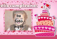 feliz cumpleaños marco de fotos corazones pastel 220x150 - feliz cumpleaños marco de fotos corazones pastel