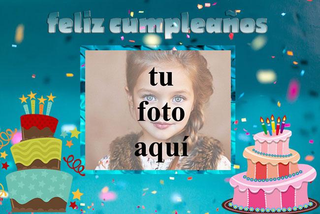feliz cumpleaños marco de fotos dos pastel - feliz cumpleaños marco de fotos dos pastel