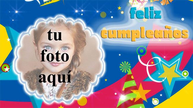 feliz cumpleaños marco de fotos estrella fiesta - feliz cumpleaños marco de fotos estrella fiesta