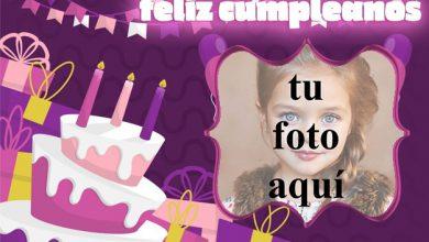 Photo of feliz cumpleaños marco de fotos muy bonito pastel