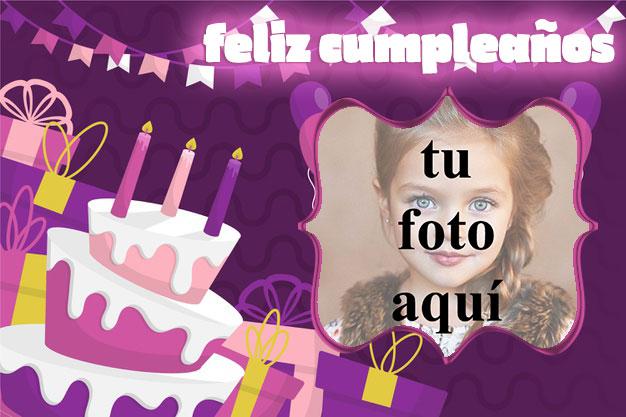 feliz cumpleaños marco de fotos muy bonito pastel - feliz cumpleaños marco de fotos muy bonito pastel