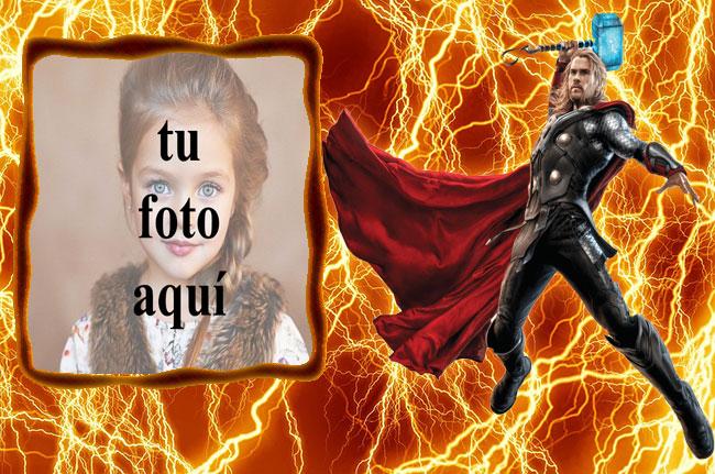 los vengadores thor y el marco de fotos de truenos de fuego - los vengadores thor y el marco de fotos de truenos de fuego