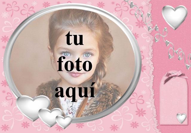 marco de fotos de corazón blanco con fondo rosa - marco de fotos de corazón blanco con fondo rosa