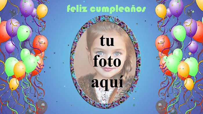 marco de fotos de feliz cumpleaños con bonito globo - marco de fotos de feliz cumpleaños con bonito globo