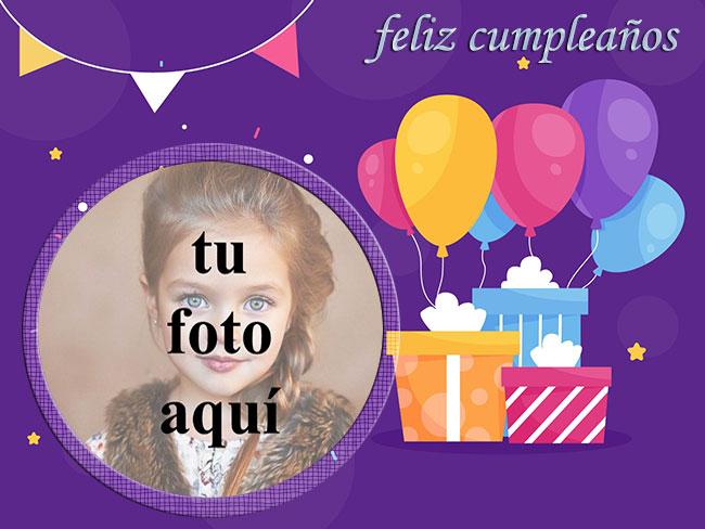 marco de fotos de feliz cumpleaños con bonito regalo - marco de fotos de feliz cumpleaños con bonito regalo