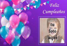 marco de fotos de feliz cumpleaños con bonitos globos de colores 220x150 - marco de fotos de feliz cumpleaños con bonitos globos de colores