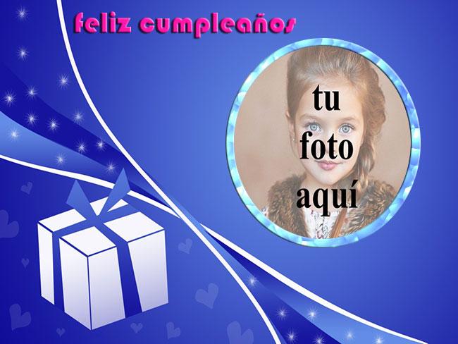 marco de fotos de feliz cumpleaños con gran regalo - marco de fotos de feliz cumpleaños con gran regalo