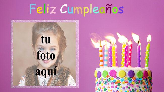 marco de fotos de feliz cumpleaños con pastel de m y m - marco de fotos de feliz cumpleaños con pastel de m y m