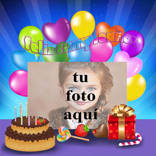 marco de fotos de feliz cumpleaños entre pastel - marco de fotos de feliz cumpleaños entre pastel