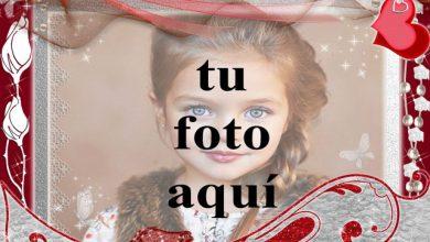 Photo of marco de fotos decorado romántico rojo