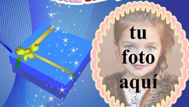 Photo of paquete de regalo de marco de fotos de feliz cumpleaños
