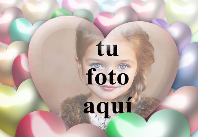 Marco de fotos romantico 3D Corazon 3D con tu foto dentro - Marco de fotos romántico 3D Corazón 3D con tu foto dentro