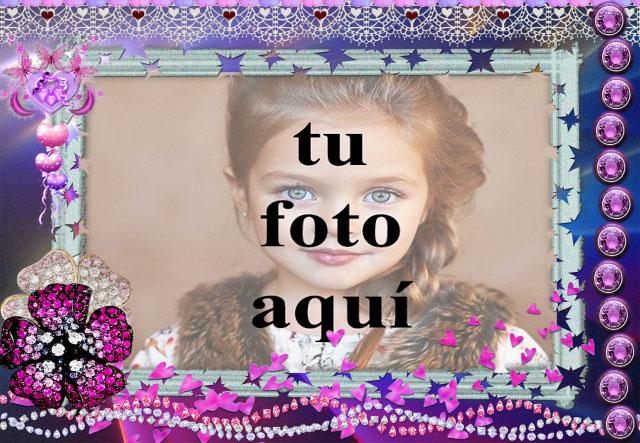 el romantico marco de fotos morado con bonita decoracion - el romántico marco de fotos morado con bonita decoración