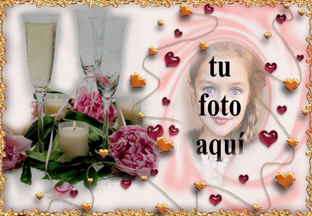 marco de fotos de bebida romantica con marco de amor - marco de fotos de bebida romántica con marco de amor