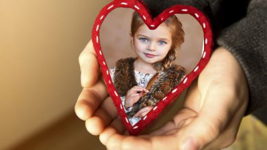 Photo of marco de fotos romantico mi corazon en tu mano de bondad