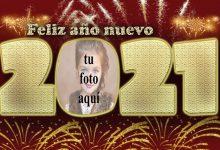 Photo of 2021 feliz año nuevo marco de fotos de fiesta de fuegos artificiales