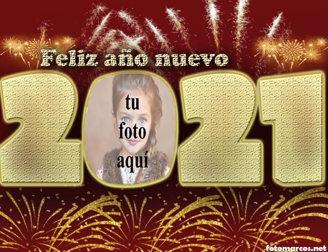 2021 feliz ano nuevo marco de fotos de fiesta de fuegos artificiales - 2021 feliz año nuevo marco de fotos de fiesta de fuegos artificiales