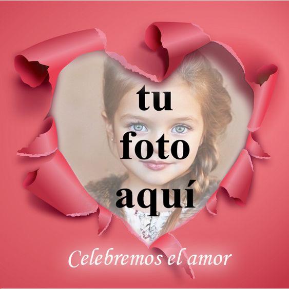 Celebremos el amor en mi marco de fotos en forma de corazon - Celebremos el amor en mi marco de fotos en forma de corazón