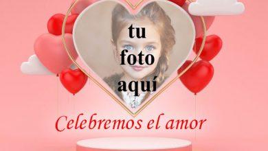 Celebremos el amor marco de fotos en forma de corazon 390x220 - Celebremos el amor marco de fotos en forma de corazón