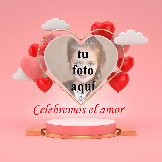 Celebremos el amor marco de fotos en forma de corazon - Celebremos el amor marco de fotos en forma de corazón