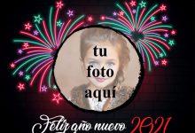 Photo of Feliz año nuevo 2021 marco de fotos de luz de neón