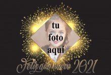 Photo of Feliz año nuevo 2021 marco de fotos dorado