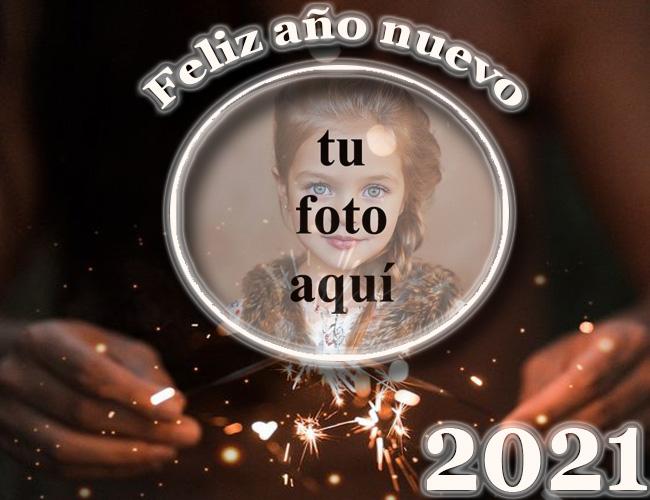 feliz ano nuevo 2021 fuegos artificiales palos marco de fotos - feliz año nuevo 2021 fuegos artificiales palos marco de fotos