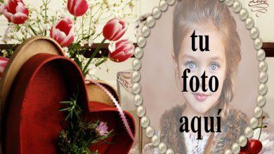 Photo of la caja de regalo romántica precioso marco de fotos