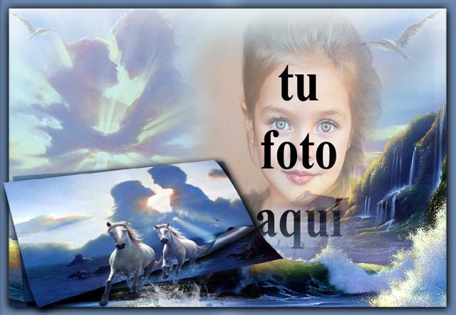 marco de fotos romantico cielo - marco de fotos romántico cielo