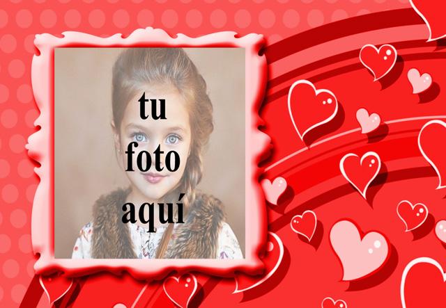 marco de fotos romantico de corazones de amor volador - marco de fotos romántico de corazones de amor volador