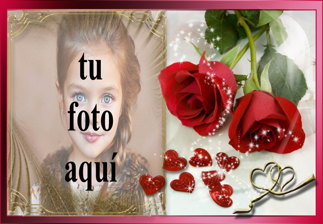 marco de fotos romantico rosas rojas - marco de fotos romántico rosas rojas