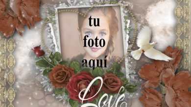 Photo of marco romántico en la pared marco de fotos muy romántico