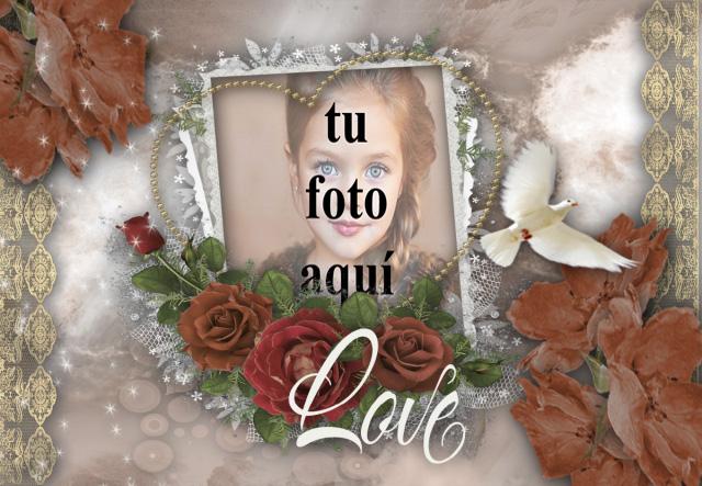 marco romantico en la pared marco de fotos muy romantico - marco romántico en la pared marco de fotos muy romántico