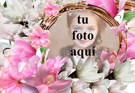 nido de flores marco de fotos muy romantico - nido de flores marco de fotos muy romántico